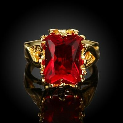 18K Yellow Gold MIL[49] Handmade Noble Mystery 2017 Natural Ruby US/8  1D64
