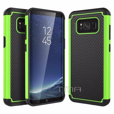 Fits Samsung Galaxy S8 Case Shockproof Rugged Rubber Hybrid Impact Cover - Green