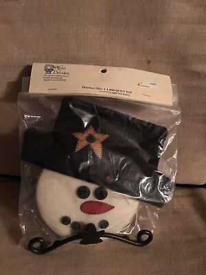 Heart of Dresden Snowman Face Hat for Longaberger Wrought Iron Small Snowman NIB