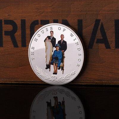 Retro 4 Generations Of British Royal Family Commemorative Coins Collection Gift#