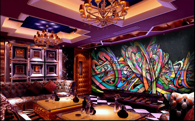 3D Abstract Graffiti 9 Wall Paper Murals Wall Print Wall Wallpaper Mural AU Kyra