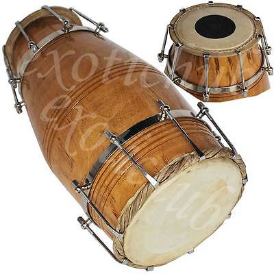 Naal Drum~Mango Wood~Spl~Bolt Tuned~Dholak~Hand Made Indian~Bajan~Kirtan​~Yog~Dj