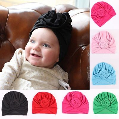Baby Boy Girl Infant Newborn Winter Warm Beanie Cotton Wrapped Cap Turban Hat