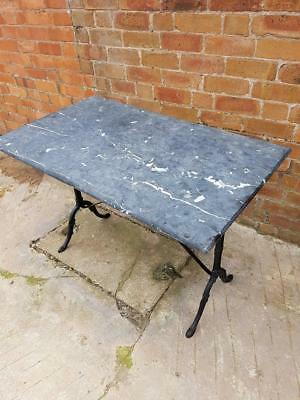 vintage cast iron French Marble Bistro Kitchen Patio Table...uk delivery poss