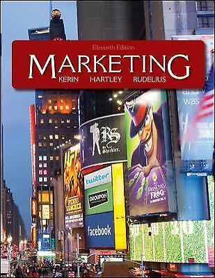 MARKETING Eleventh Edition Kerin Hartley Rudelius Text Book VG