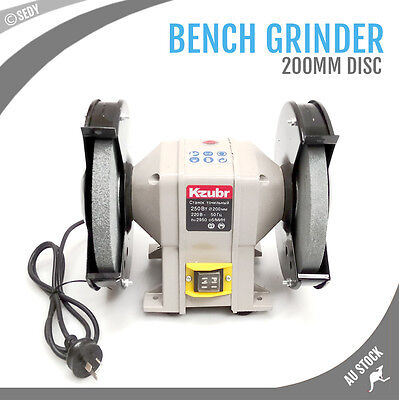 """8"""" 200mm Bench Grinder Grinding WIth Polishing Stone Sharpener Industrial Tool"""