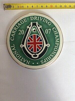 National carriage driving commemorative plaque.