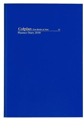 2018 1 Year Planner Diary A4 Month to View MTV - NAVY BLUE-Free Postage!
