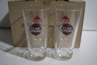 6 verres à whisky CLAM CAMPBELL neuf 17 cl