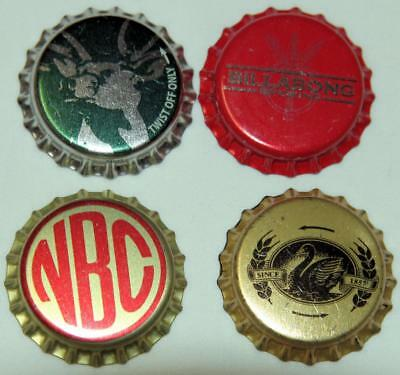 Collectible Group Of 4 Uncrimped Australian Bottle Caps/tops Group 18 - New