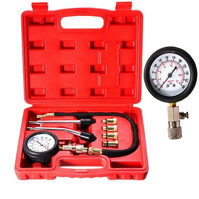 Petrol Engine Compression Test Tester Kit Set For Automotive Motorcycle Car Tool