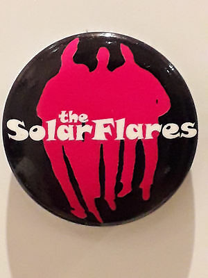 SOLARFLARES Psychedelic Tantrum BUTTON PIN BADGE Germany 1999 BLACK BACKGROUND