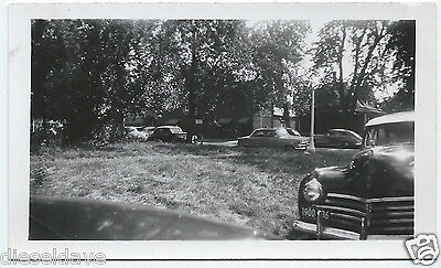 Vintage Photo Snapshot 1941 CHRYSLER Other 40s/50s Autos Candid On Street VG+/Ex