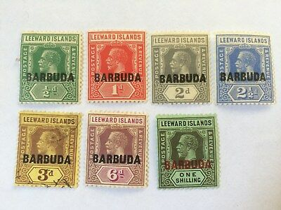 Stamps Leeward Islands - KGV Barbuda overprint stamp set
