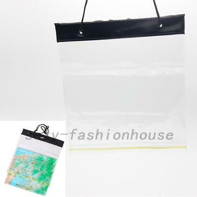 Camping Waterproof Map Document Case PVC Cargo Transparent Seal Pocket Pouch New
