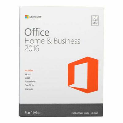 Microsoft Office Home & Business 2016 for 1 Mac