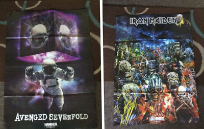 Iron Maiden & Avenged Sevenfold Double Sided Large Poster Heavy Metal/Rock