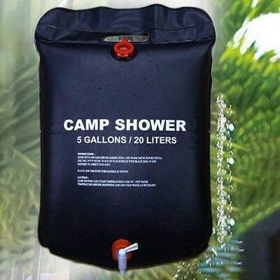 NEW 20L Solar Shower Bag Heated Portable Water Outdoor Hiking Camping PVC#