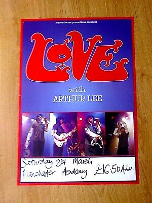Love With Arthur Lee Original Tour Poster, Manchester ( Very Rare )