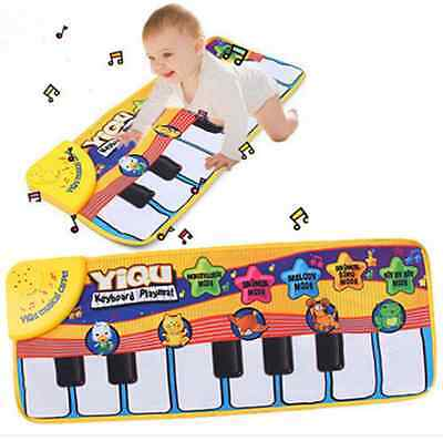 Hot Sale! Multifunction Baby Play Crawling Mat Touch Learn Singing Music Toys
