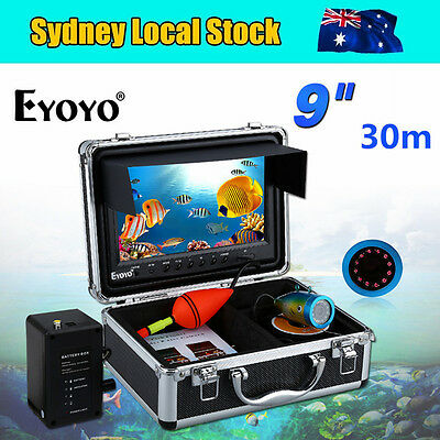 """EYOYO 30M Cable 9"""" Display Underwater Fish Finder Video DVR Camera DVR Infrared"""