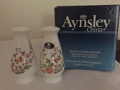 Aynsley Cottage Garden Salt And Pepper. Boxed.