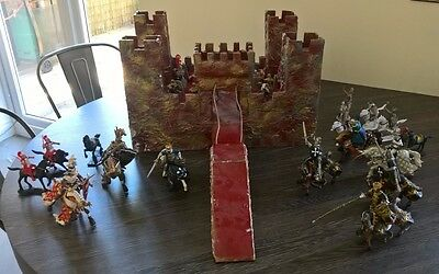 Castle Fort and Knights - wooden hand crafted