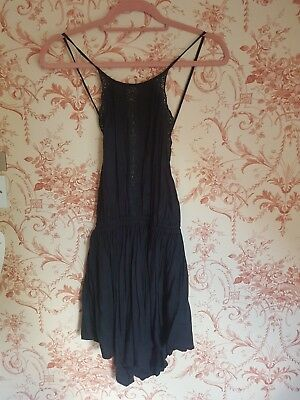 Free people playsuit S black backless