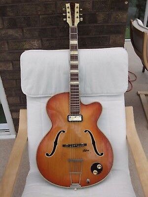 Hofner Guitar:4570 rare:Thinline:Single cutaway:Vintage 1950s:Good condition