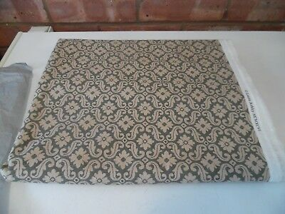 Laura Ashley Vintage Fabric - New Old Stock - Green and Beige from 1996