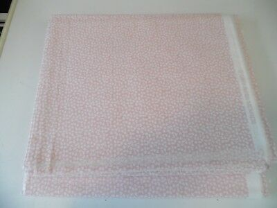 Laura Ashley Vintage Fabric - New Old Stock - Pink and White from 1993