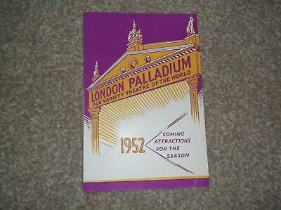 1952 London Palladium  theatre programme, Guy Mitchell, etc.
