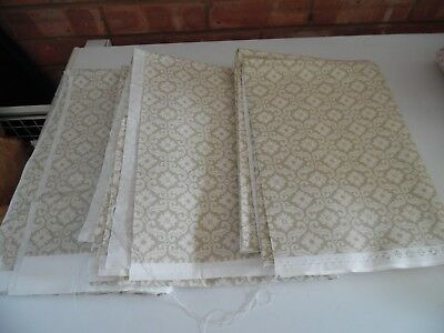 Laura Ashley Vintage Fabric - New Old Stock Pale Green & Cream Design from 1996