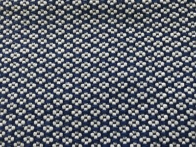 John Lewis 2 x Place Mat Tablemat Blue And White Pattern Cotton Rectangle Soft