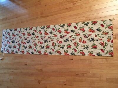 "1-Longaberger Valance Fruit Medley Rod Pocket VALANCE 74"" X 17.5"" Curtain-Cherry"