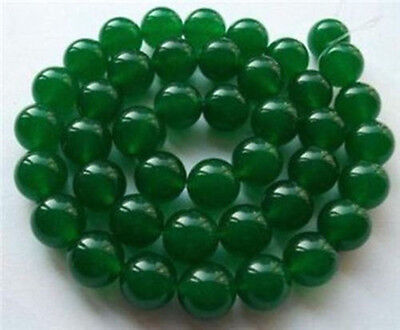 "6MM Natural Green Jade Emerald Round Gems Loose Beads 15""AAA"