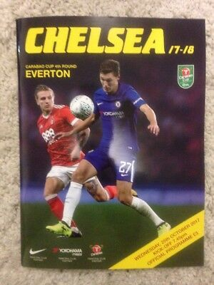 CHELSEA v EVERTON League Cup Programme, 25/10/17 2017 Mint