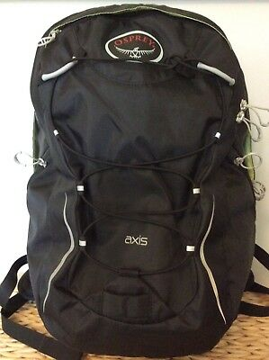 Osprey Axis 18L Backpack Black Padded laptop & tablet sleeve Excellent condition