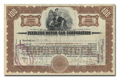 Peerless Motor Car Corporation Stock Certificate