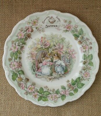 Royal Doulton ~ Brambly Hedge ~ SUMMER ~ Plate ~ Perfect Condition ~ Boxed