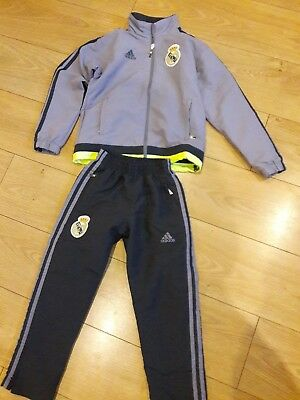 Adidas Real madrid tracksuit age approx 6-8