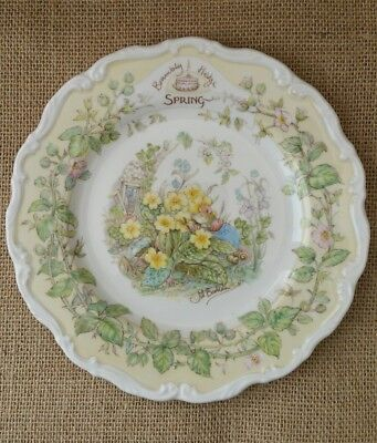 Royal Doulton ~ Brambly Hedge ~ SPRING ~ Plate ~ Perfect Condition ~ Boxed
