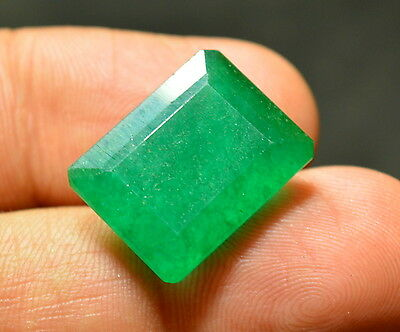 Natural 19.70 Ct Green Colombian Emerald Cut Certified Gemstone (NW_06)