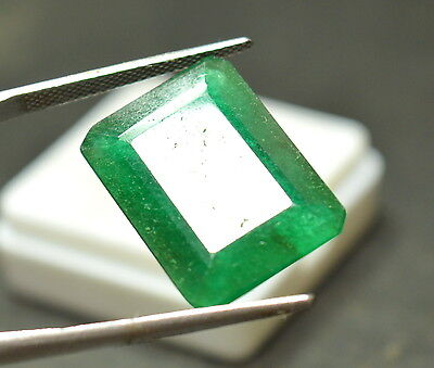 16.70 Cts. Awesome Colombian Green Emerald Shape Certified Natural Gems (NW_06)