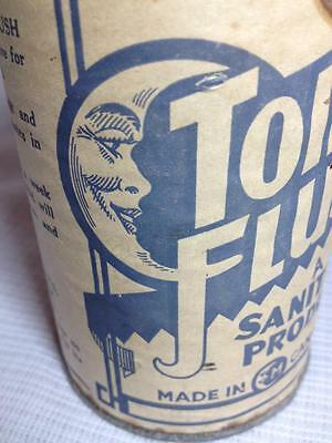 Toilet Flush a sanitary product vintage,tin paper lithograpgh made in Canada