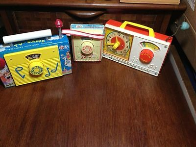 3 vintage fisher price  Music boxes