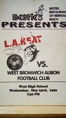 MAY 23rd 1990 Pre Season Friendly L.A. HEAT v WEST BROMWICH ALBION WBA Besties