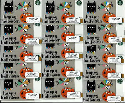 Starbucks New Halloween Gift Cards (Lot Of 15)