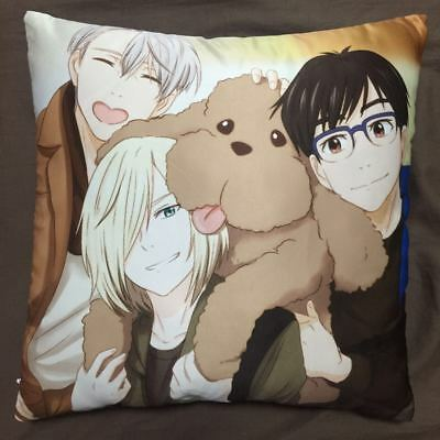 Yaoi Anime Yuri On Ice Victor two sided hugging Pillow Case Cover 79