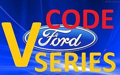 Ford Sony 6000CD Radio - V Serial Radio Unlock Code IMMEDIATE CODE SERVICE !!!